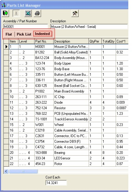 Minimrp 3 0 Parts List Manager Plm Mrp Inventory Control